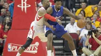 Watch Dwight Howard Call For Help In The Middle Of Trying To Guard DeAndre Jordan