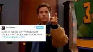 Emilio Estevez Celebrated Anaheim's Win By Taunting Blackhawks Fans With Gordon Bombay-Level Trash Talk