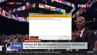 Take A Look At ESPN's Tech Malfunction During The FIFA Vote