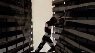 The 'Footloose' Warehouse Dance Without Music Looks Completely Insane