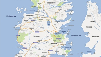 Check Out This Google Maps Version Of Westeros From 'Game Of Thrones'