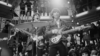 A Guitar Once Lent To George Harrison Sold For $485,000 At Auction
