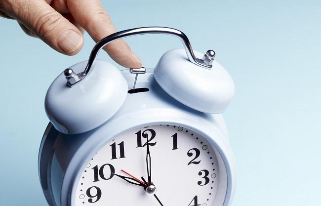Stopping blue alarm clock deadline