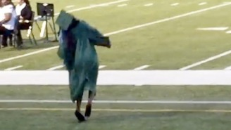 Watch This Girl Tragically Eat It During Her High School Graduation Walk
