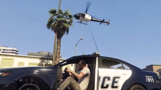 This 'Grand Theft Auto V' Mod Lets You Zip Around On A Grappling Hook