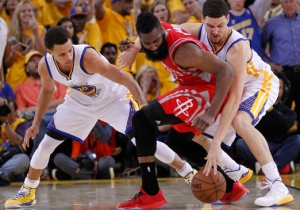 The Warriors Forced James Harden Into A Crucial Turnover To Secure The One-Point Win