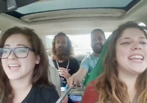 These Hipsters' 'Baby Come Back' Selfie Stick Car Singalong Does Not End Well