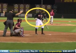 Watch This Batter Catch A Fastball That Hits Him, Then Casually Throw It Back To The Pitcher