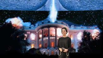 Sela Ward Takes Over The White House For 'Independence Day 2'