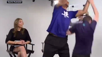 Watch Jahlil Okafor Rudely Reject This Prank Dunk Attempt
