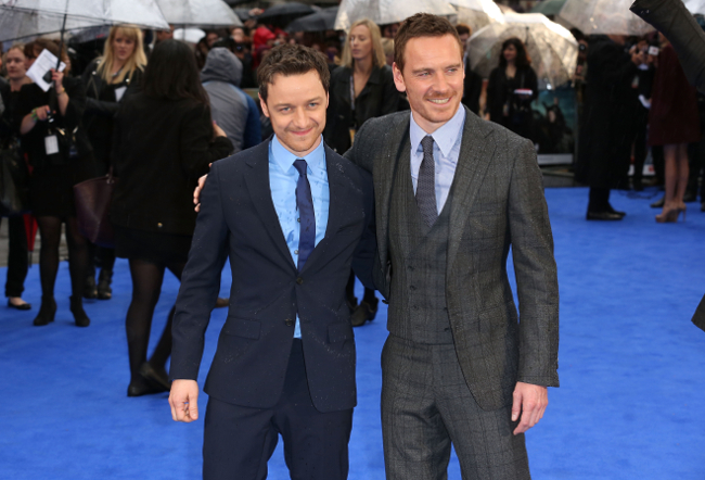 James McAvoy and Michael Fassbender at X-Men Days of Future Past