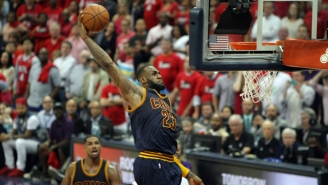 LeBron James Drives Straight Down Main Street For The Wide Open Dunk In Cavs Win