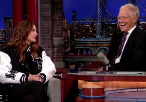 Julia Roberts Worried David Letterman Would Think She Wasn't Too Smart