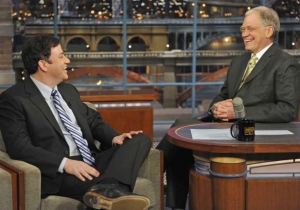 Jimmy Kimmel Will Air A Rerun During Letterman's Finale Out Of Respect For His Idol