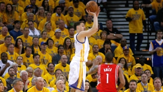 Klay Thompson's Big Second Quarter Has The Warriors Leading The Rockets At Halftime