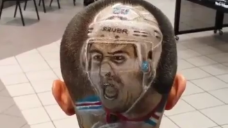 This Fan Got A Haircut Portrait Of A Rangers Player's Face