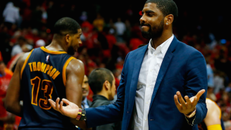 Kyrie Irving Tests A Brace On His Injured Knee And Remains Questionable For Game 3