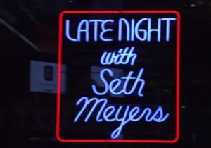 Watch Seth Meyers Re-Create David Letterman's 'Late Night' Opening