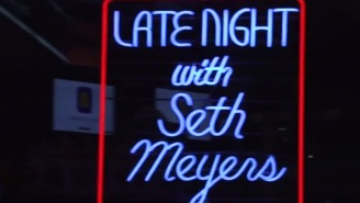 Watch Seth Meyers Re-Create David Letterman's 'Late Night' Opening