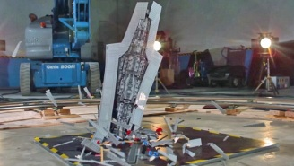 Watch This $800 LEGO 'Star Wars' Super Star Destroyer Get Completely Wrecked In Slo-Mo