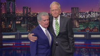 Regis Philbin Managed To Sneak In A Final Appearance With David Letterman