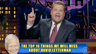 James Corden Counted Down The Top 10 Things We'll Miss About David Letterman