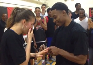 This 'Love And Basketball' Inspired Proposal Is Guaranteed To Melt A Baller's Heart