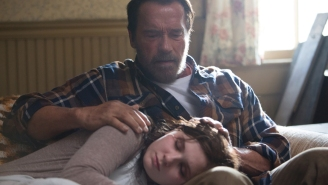 Review: Schwarzenegger tries to stretch in slow-burn zombie film 'Maggie'