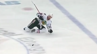 Ankles Shouldn't Bend This Way, As Blackhawks Defenseman Michal Rozsival Learns