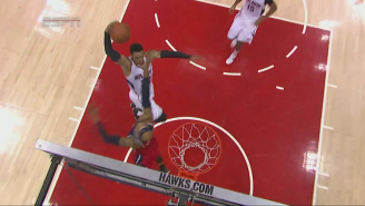 Mike Scott Dunked All Over Drew Gooden With The Hawks Flying To Open Game 1
