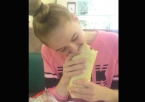 Watch This New Zealand Model Inhale A Two-Pound Burrito In Almost 90 Seconds