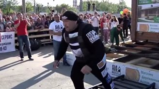Watch As This Russian Strongman Moves A Two-Story House To Set A New World Record
