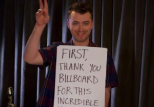 Sam Smith Spoofed 'Love Actually' In His Billboard Music Award Acceptance Speech
