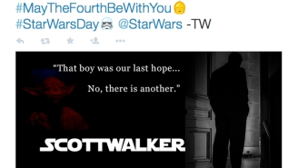 Outrage Watch: Scott Walker co-opts 'Star Wars Day,' fails spectacularly