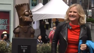 Nancy Cartwright From 'The Simpsons' Molded A Bart Simpson Bust As A Gift To Fox
