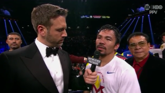 Watch Max Kellerman Defend Manny Pacquiao For Fighting With An Injured Shoulder