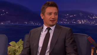 Jeremy Renner Doubled Down On His Black Widow Joke While On 'Conan'