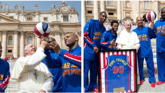 The Pope Might Not Be The Star The Harlem Globetrotters Want, But He Is The Star They Need