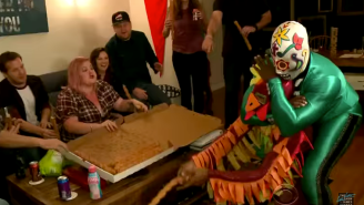 James Corden Invited Mexican Wrestlers Into A Stranger's Home On 'The Late Late Show'
