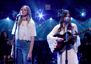 First Aid Kit Serenaded David Letterman With A Song He Used To Sing To His Son