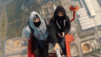 Two Guys Climbed The World's Second-Tallest Building And Took A Selfie