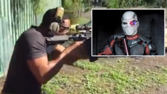 Here's Will Smith Preparing For His 'Suicide Squad' Role With A Little Target Practice