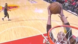 Taj Gibson Gets Up For The Monster Put-Back Dunk Against The Cavs