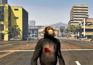 Watch A Flying Chimp Shoot Cars Out Of A Gun In This Insane 'GTA V' Video