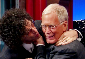 Watch Howard Stern Attempt To Plant A Final Goodbye Kiss On David Letterman