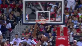 Marvel At This Monstrous Dunk Nene Threw Down On Al Horford