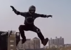 Watch This BMX Rider Switch Bikes In Mid-Air Like It's Nothing