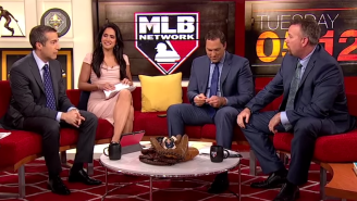Watch This MLB Network Analyst Hit His Co-Host In The Head With A Line Drive