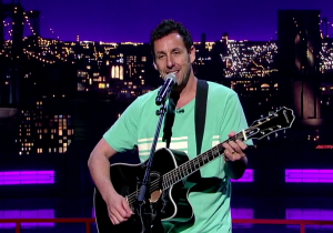Adam Sandler Sang A Tribute To David Letterman's Departure