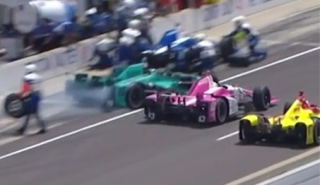Pit Crew Members At Indianapolis 500 Injured While Being Swiped By Car